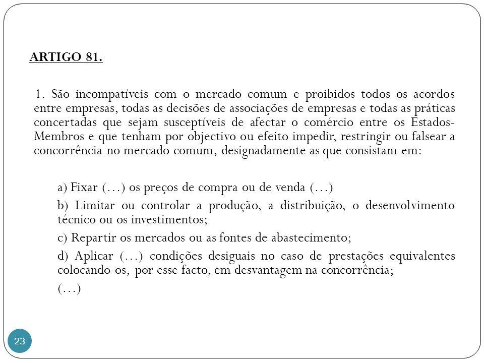 23 ARTIGO 81.1.
