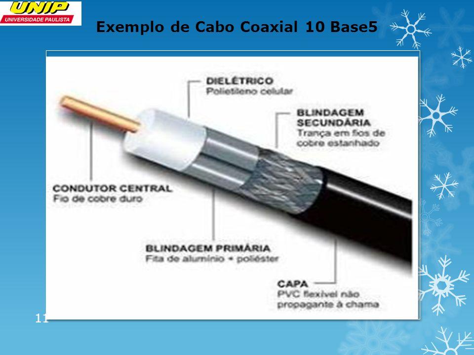 Exemplo de Cabo Coaxial 10 Base5 11