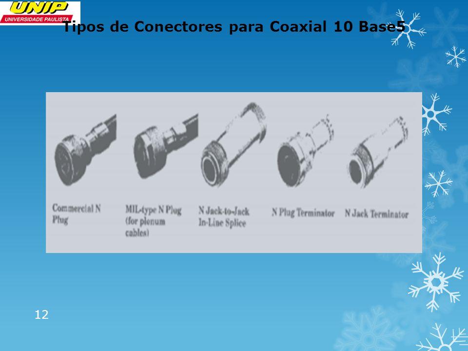 Tipos de Conectores para Coaxial 10 Base5 12