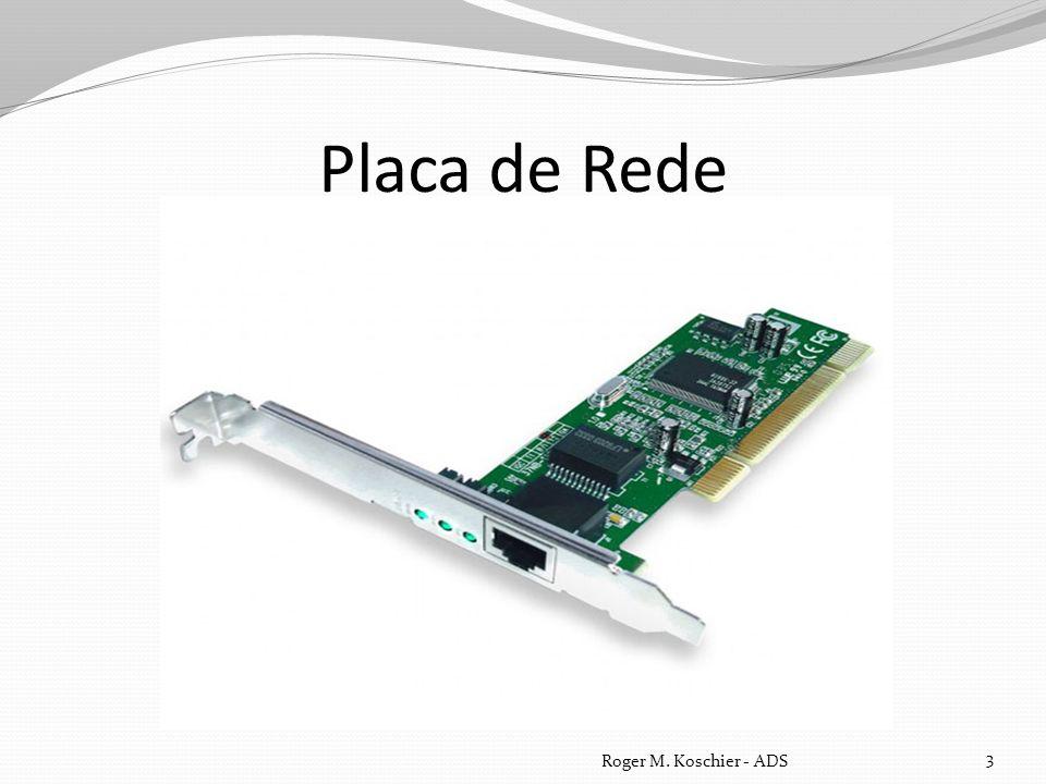 Função Uma placa de rede serve de interface físico entre o computador e o cabo.