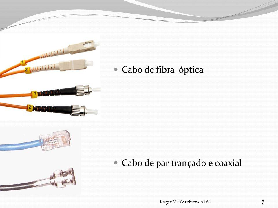 Cabo de fibra óptica Cabo de par trançado e coaxial Roger M. Koschier - ADS 7