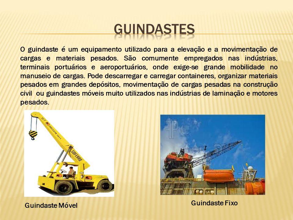 O guindaste é um equipamento utilizado para a elevação e a movimentação de cargas e materiais pesados.