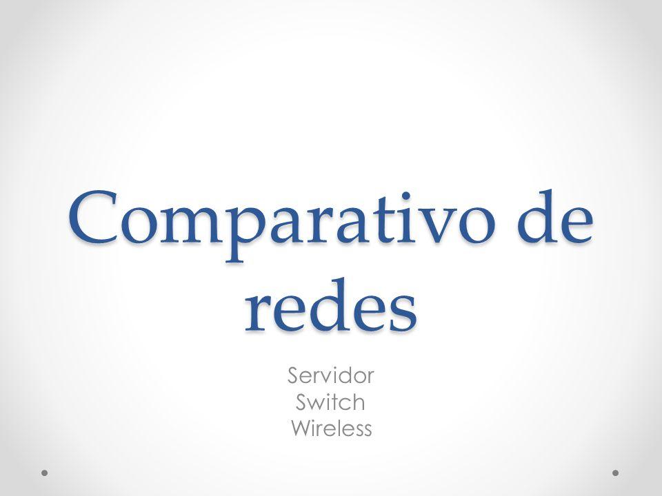 Comparativo de redes Servidor Switch Wireless