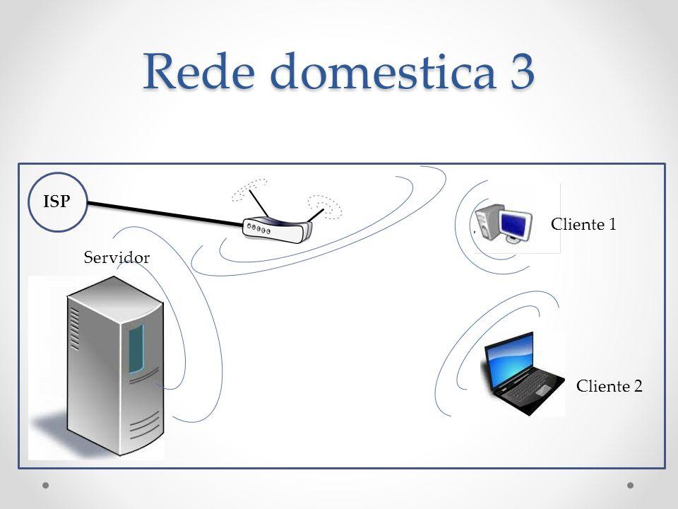 Rede domestica 3 ISP Servidor Cliente 1 Cliente 2