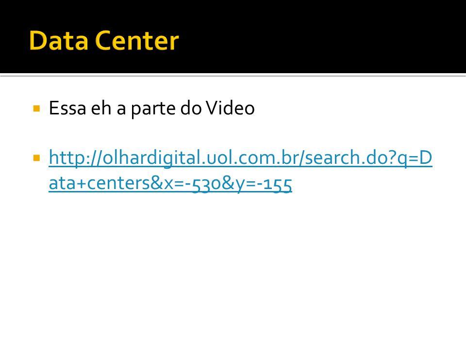 Essa eh a parte do Video http://olhardigital.uol.com.br/search.do?q=D ata+centers&x=-530&y=-155 http://olhardigital.uol.com.br/search.do?q=D ata+centers&x=-530&y=-155