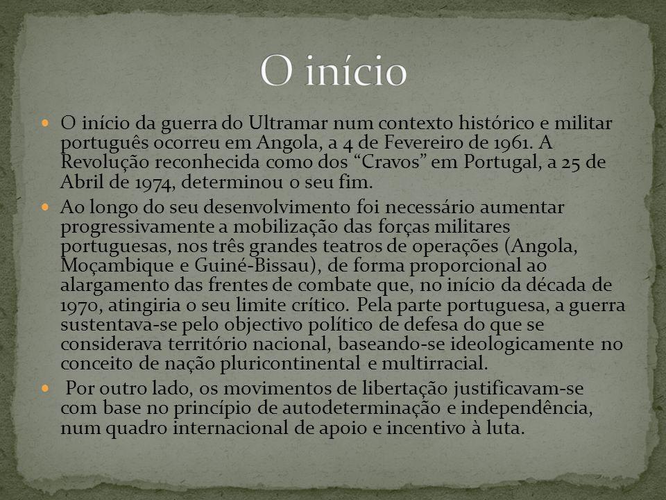O início da guerra do Ultramar num contexto histórico e militar português ocorreu em Angola, a 4 de Fevereiro de 1961. A Revolução reconhecida como do