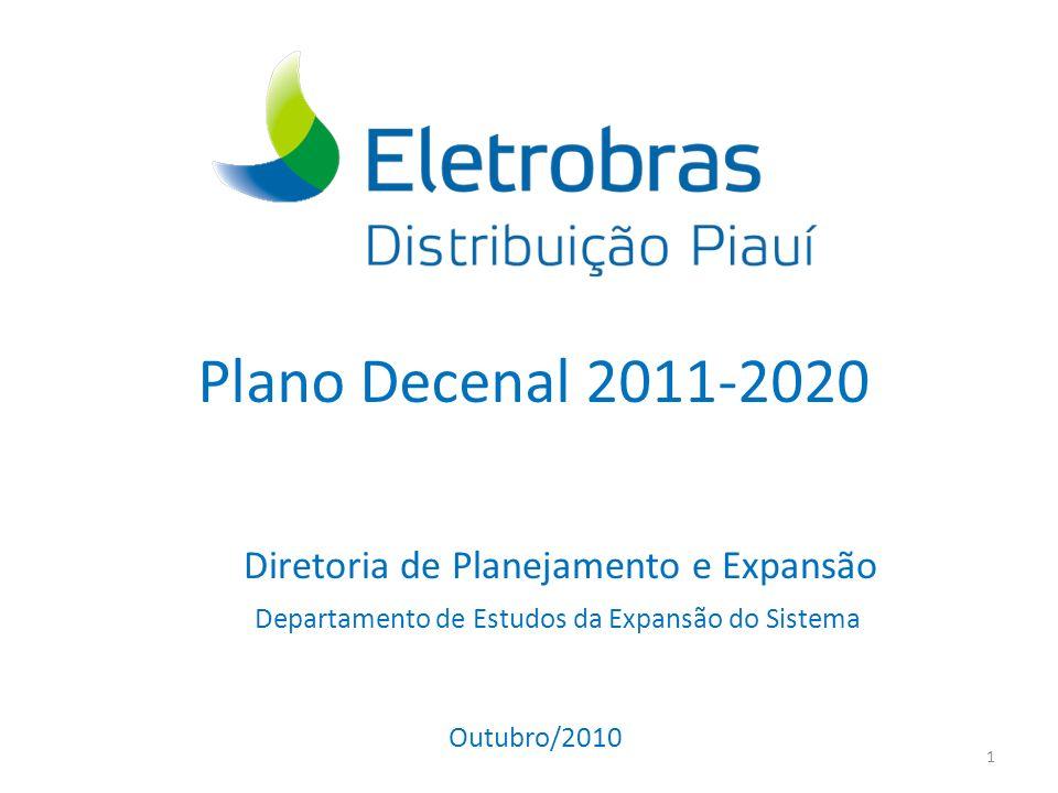 Plano Decenal 2011-2020 Diretoria de Planejamento e Expansão 1 Departamento de Estudos da Expansão do Sistema Outubro/2010