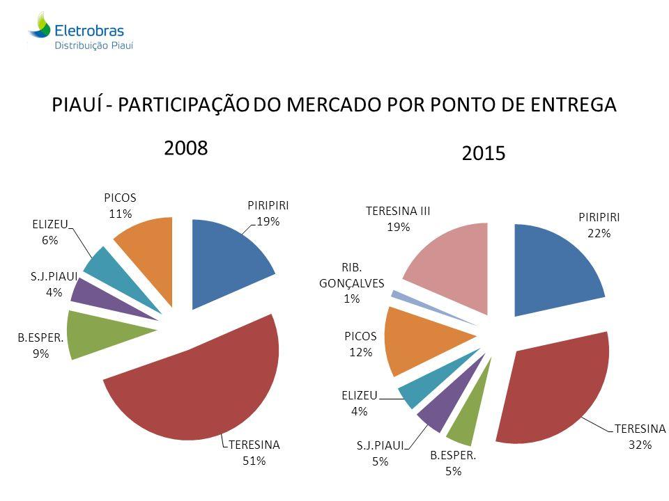 PIAUÍ - PARTICIPAÇÃO DO MERCADO POR PONTO DE ENTREGA 2008 2015