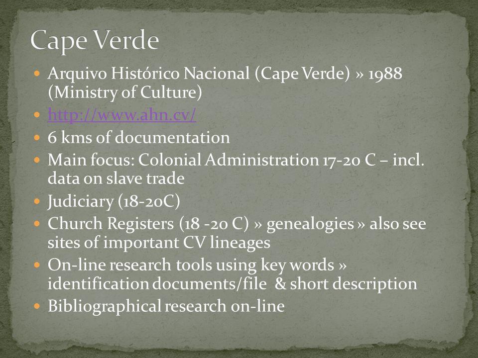 Project África Atlântica: da documentação ao conhecimento, sécs.