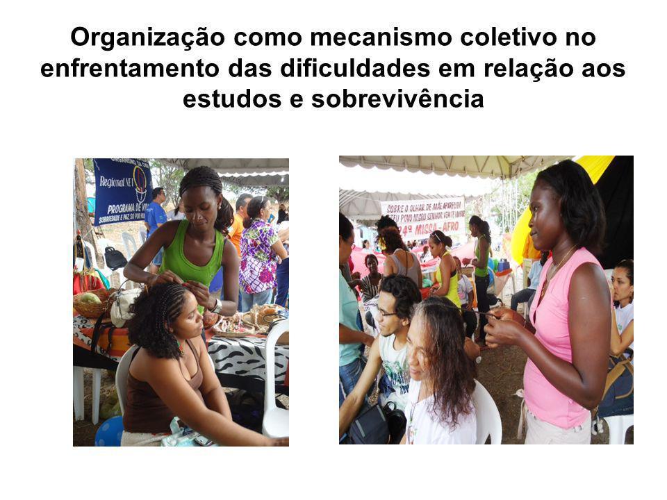 Organização como mecanismo coletivo no enfrentamento das dificuldades em relação aos estudos e sobrevivência