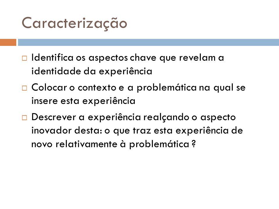 Grelha de capitalização Título da experiência: Como se chama a experiência .