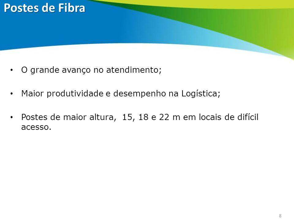 9 POSTE DE CONCRETOPOSTE DE FIBRA Poste de Concreto - Poste de Fibra de Vidro