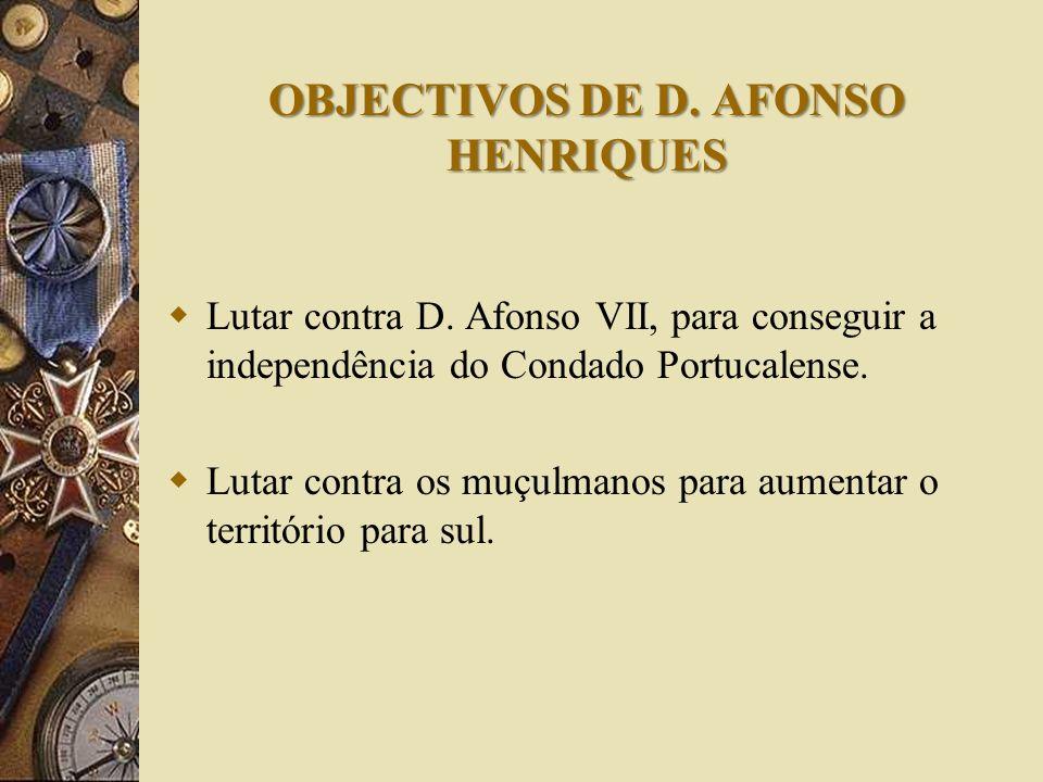 D. Henrique sonhava tornar o Condado Portucalense independente, mas morreu sem o conseguir. Ocupou o lugar do pai D. Afonso Henriques, mas como este t