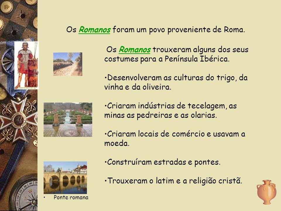 Ponte romana Os Romanos foram um povo proveniente de Roma.