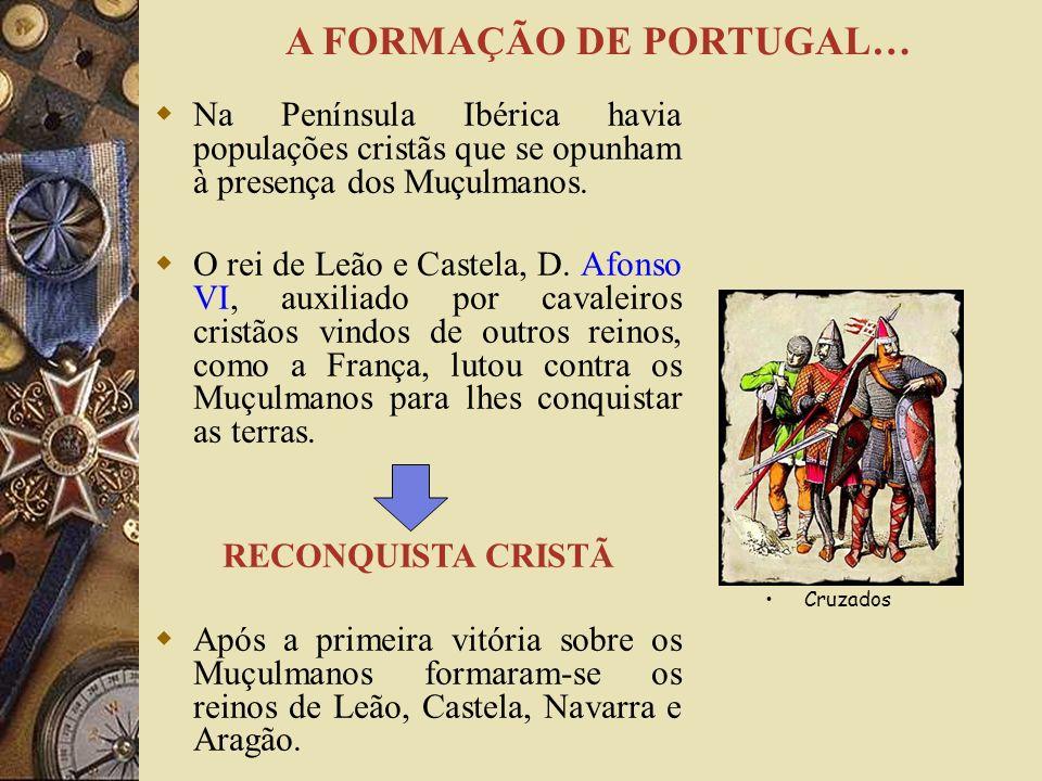 Na Península Ibérica havia populações cristãs que se opunham à presença dos Muçulmanos.