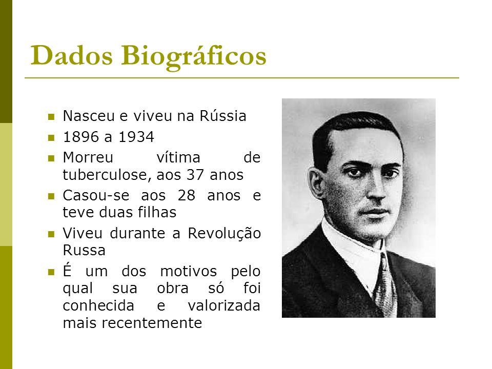 Dados Biográficos Nasceu e viveu na Rússia 1896 a 1934 Morreu vítima de tuberculose, aos 37 anos Casou-se aos 28 anos e teve duas filhas Viveu durante