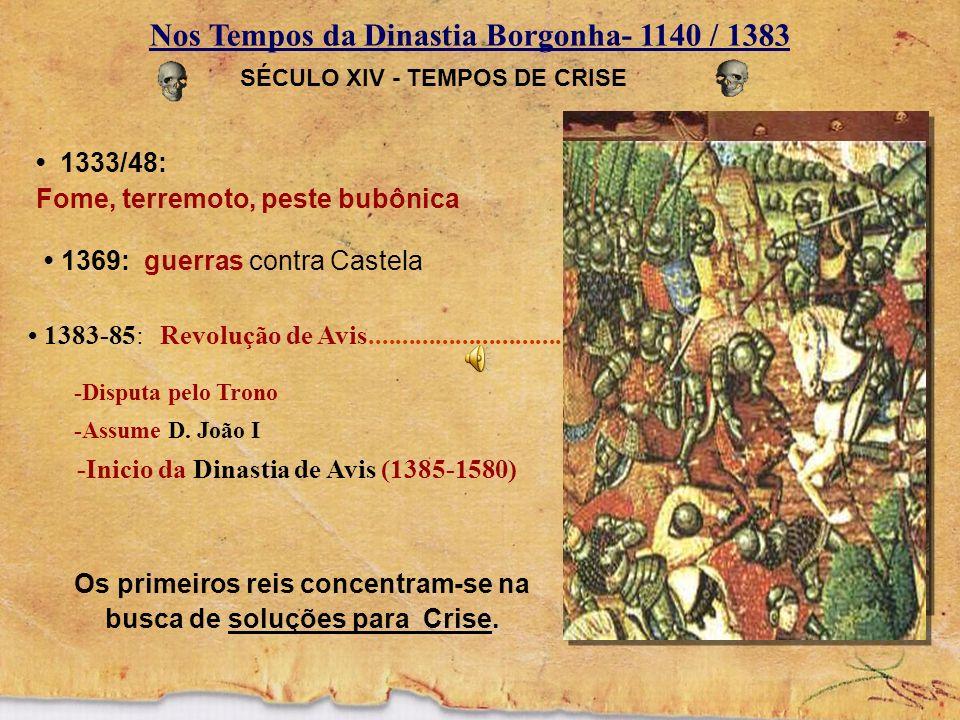 Nos Tempos da Dinastia Borgonha- 1140 / 1383 Contra Castela e os muçulmanos Crescimento do comércio nas cidades litorâneas.