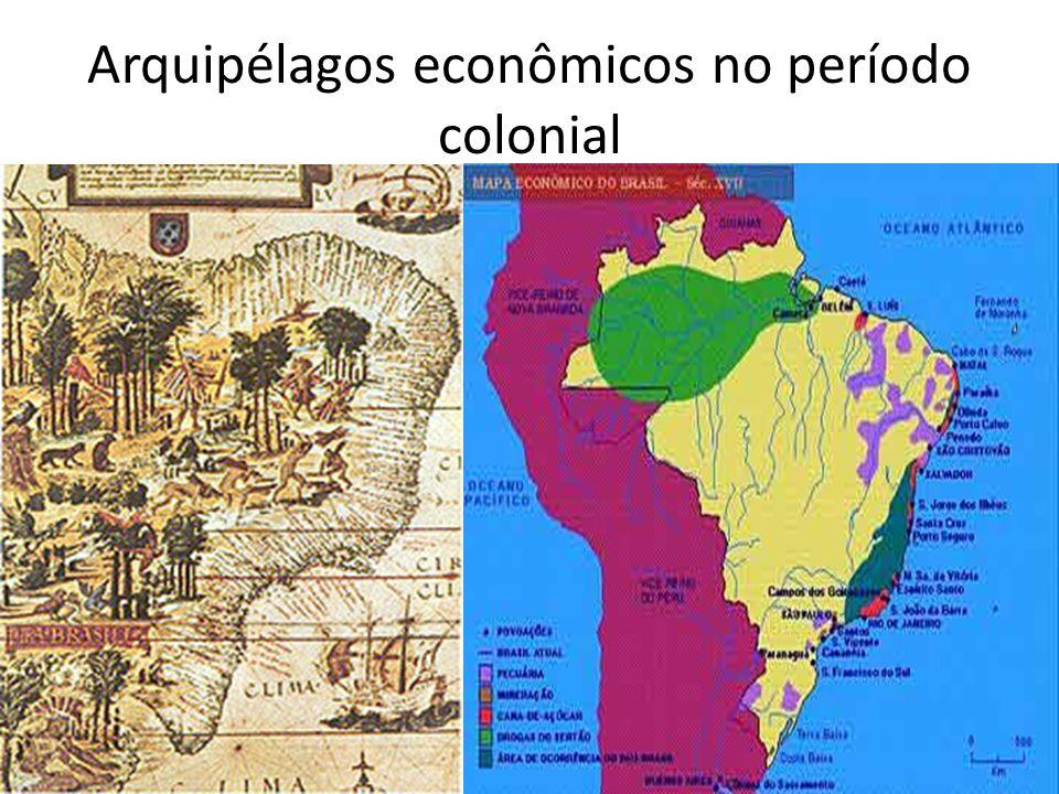Arquipélagos econômicos no período colonial