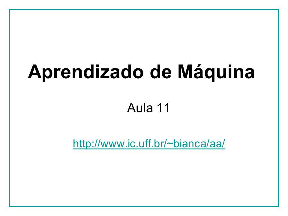 Aula 11 - 01/06/2010 Tópicos 1.Introdução – Cap.1 (16/03) 2.Classificação Indutiva – Cap.