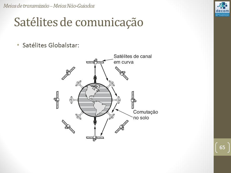 Satélites de comunicação Satélites Globalstar: Meios de transmissão – Meios Não-Guiados 65