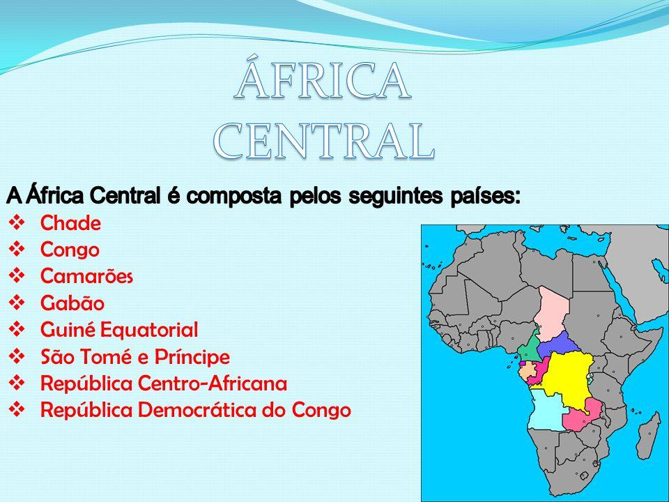 Caracterizada pelos inúmeros conflitos da década de 90 que marcaram profundamente a região, a África Central ficou conhecida no mundo pelos conflitos no Zaire que o transformaram em República Democrática do Congo.