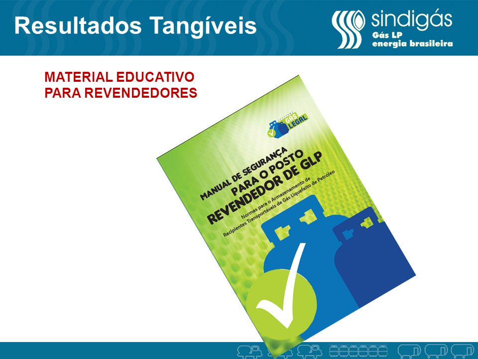 Resultados Tangíveis MATERIAL EDUCATIVO PARA REVENDEDORES