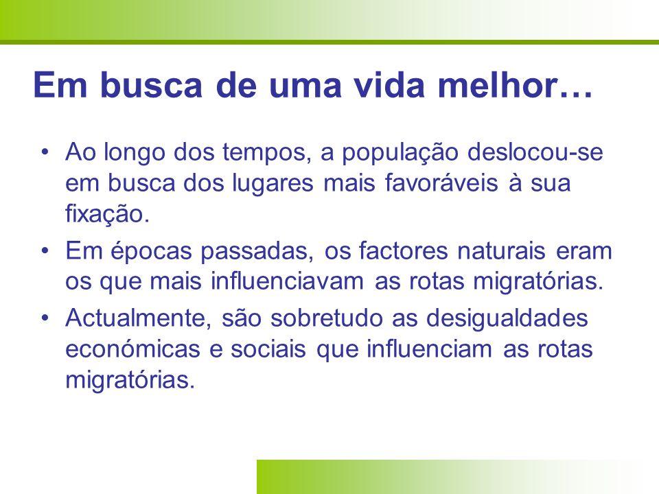 A IMIGRAÇÃO EM NÚMEROS… A percentagem de imigrantes em Portugal por comunidades, em 2008