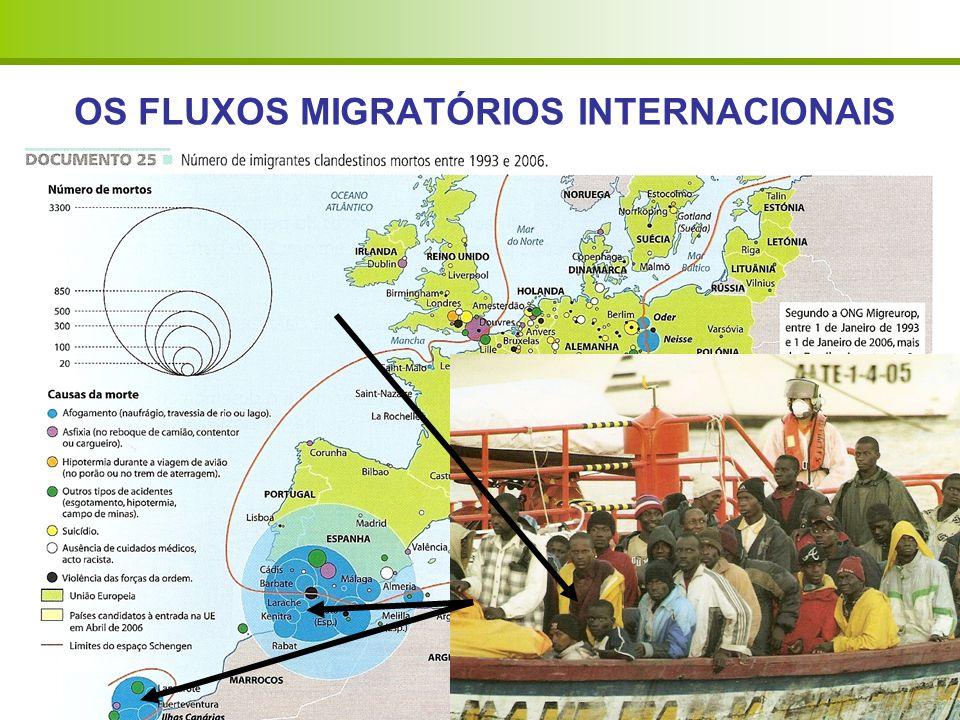 OS FLUXOS MIGRATÓRIOS INTERNACIONAIS