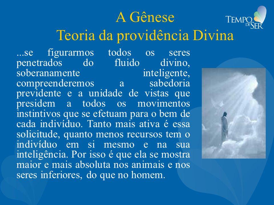 A Gênese Teoria da providência Divina...se figurarmos todos os seres penetrados do fluido divino, soberanamente inteligente, compreenderemos a sabedor