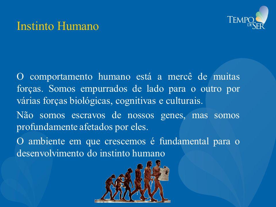 Instinto Humano O comportamento humano está a mercê de muitas forças. Somos empurrados de lado para o outro por várias forças biológicas, cognitivas e