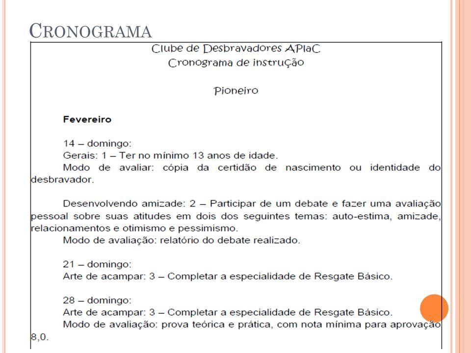 C RONOGRAMA