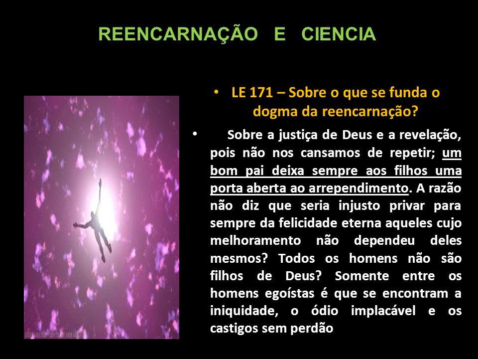 LE 171 – Sobre o que se funda o dogma da reencarnação.