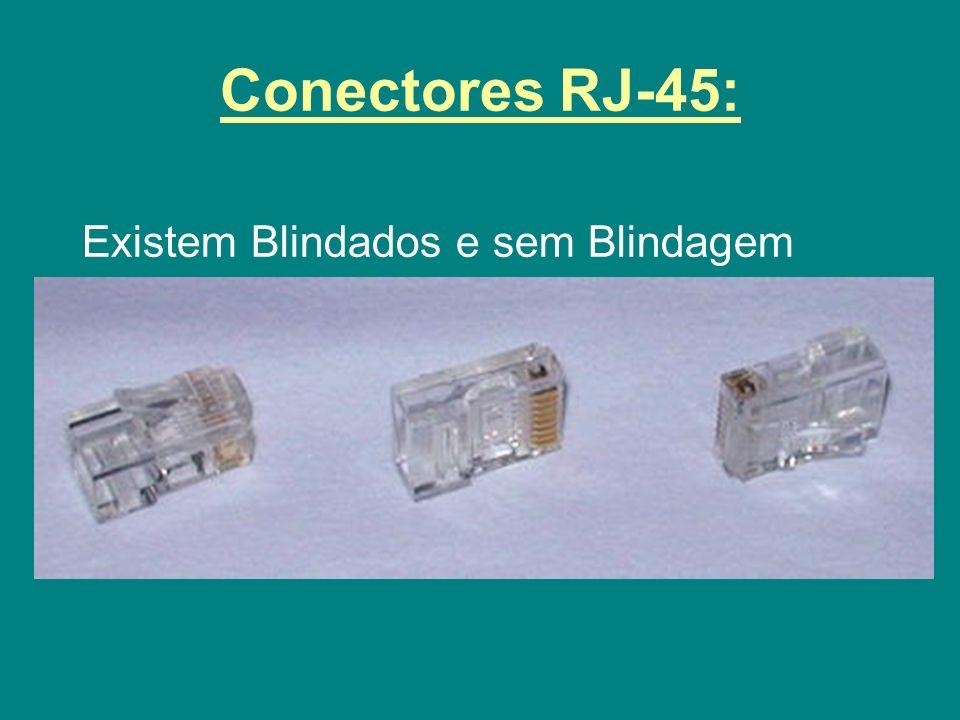 Conectores RJ-45: Existem Blindados e sem Blindagem