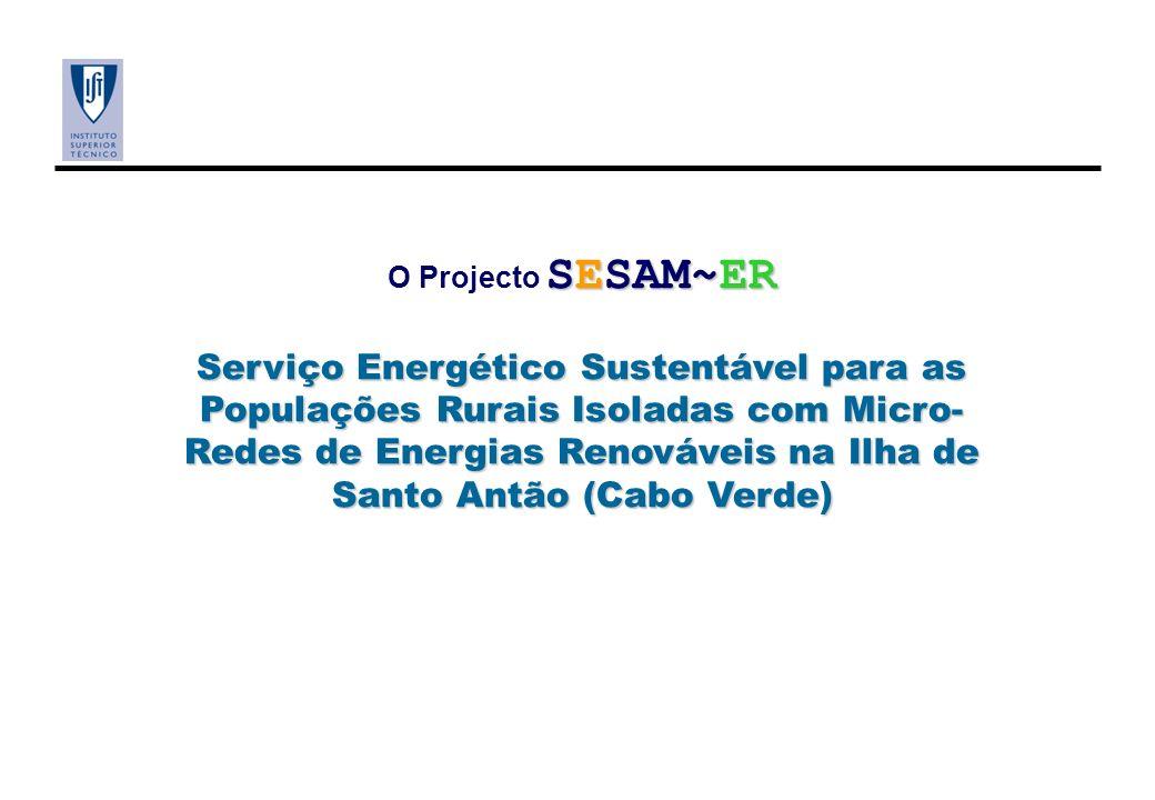 SESAM~ER O Projecto SESAM~ER Serviço Energético Sustentável para as Populações Rurais Isoladas com Micro- Redes de Energias Renováveis na Ilha de Sant