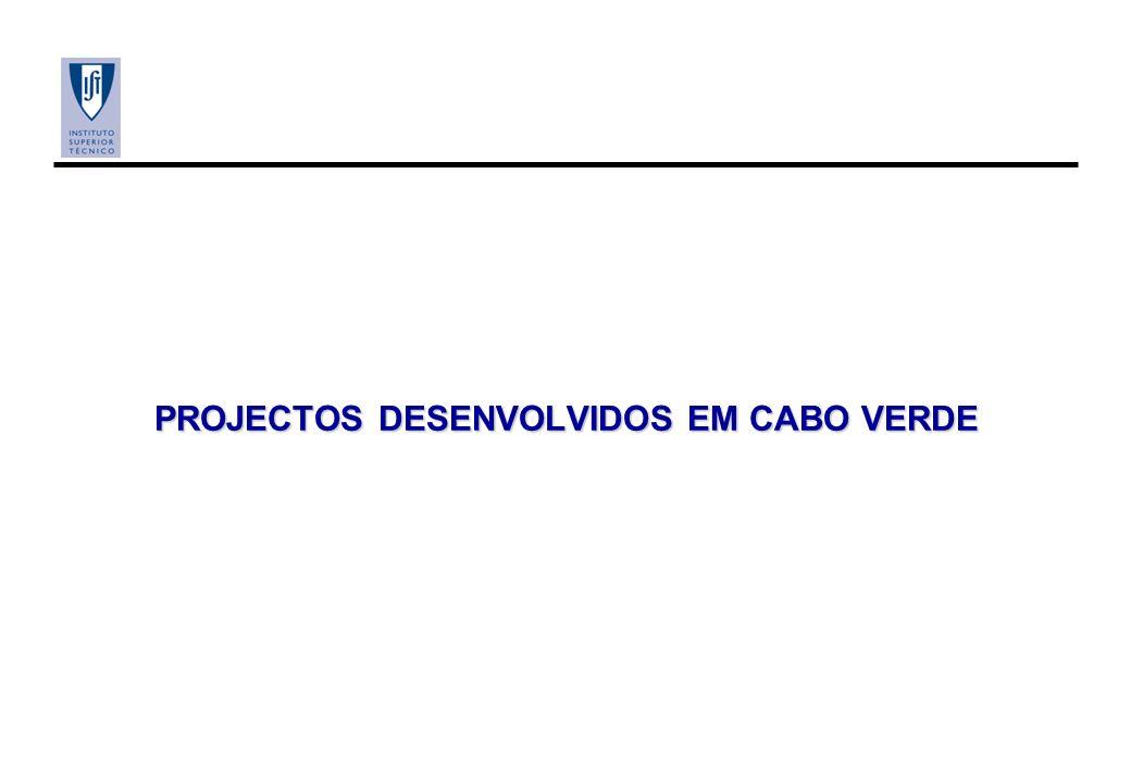 PROJECTOS DESENVOLVIDOS EM CABO VERDE