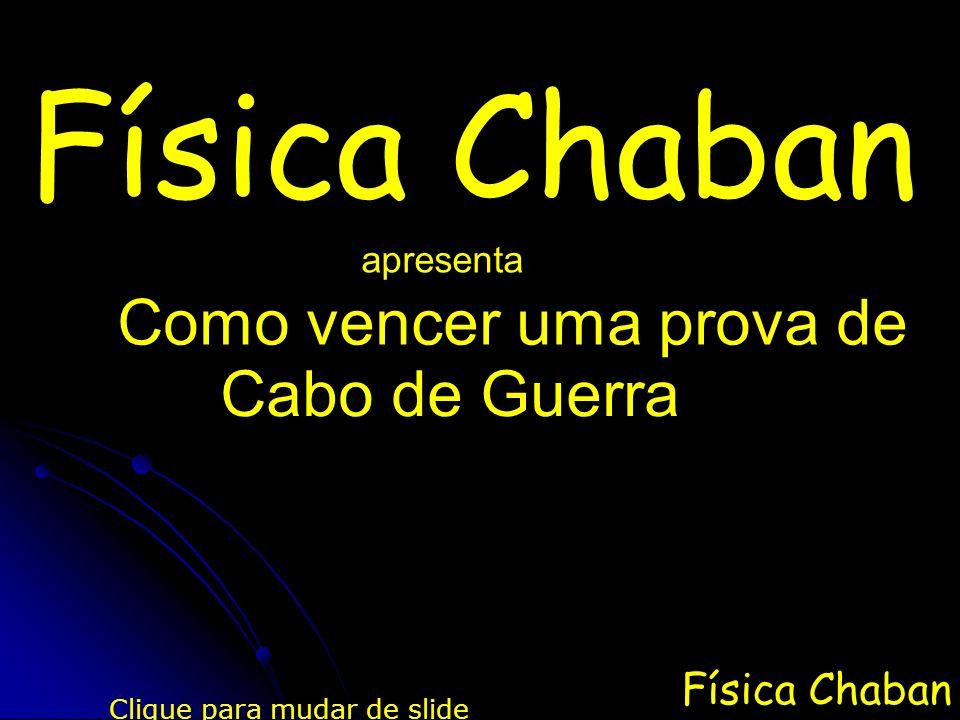 Física Chaban Quando se aplica uma força em uma corda, dizemos que ela se encontra tencionada.