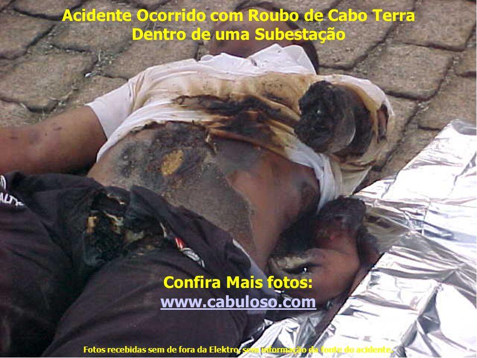 Acidente Ocorrido com Roubo de Cabo Terra Dentro de uma Subestação Confira Mais fotos: www.cabuloso.com Fotos recebidas sem de fora da Elektro, sem informação da fonte do acidente.