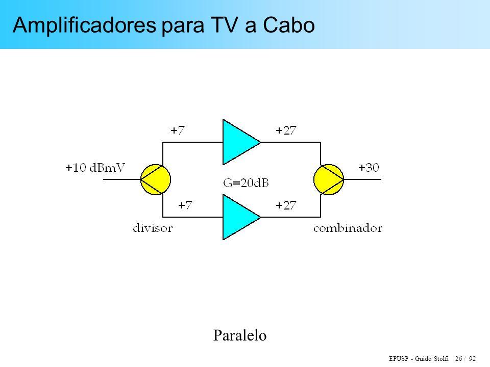 EPUSP - Guido Stolfi 26 / 92 Amplificadores para TV a Cabo Paralelo