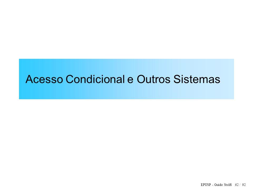 EPUSP - Guido Stolfi 62 / 92 Acesso Condicional e Outros Sistemas