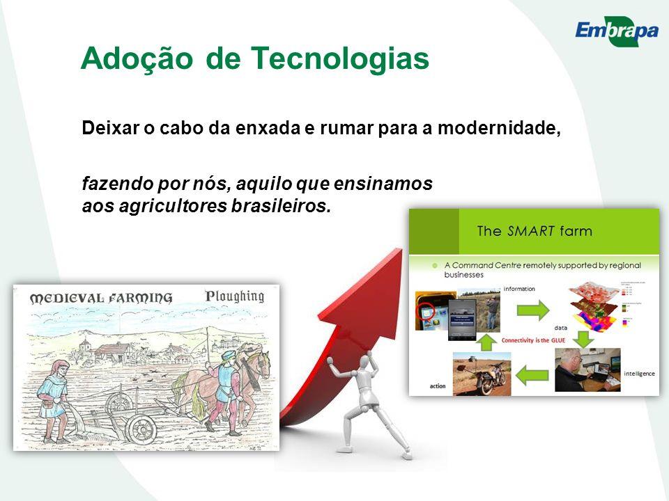 Adoção de Tecnologias Deixar o cabo da enxada e rumar para a modernidade, fazendo por nós, aquilo que ensinamos aos agricultores brasileiros.