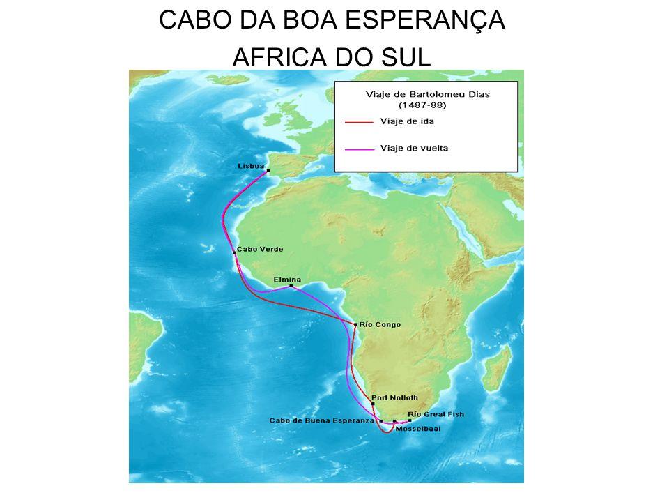 TRATADO DE TORDESILHAS 1492, Cristovão Colombo parte da Espanha para contornar o Atlântico e chegar às Índias.