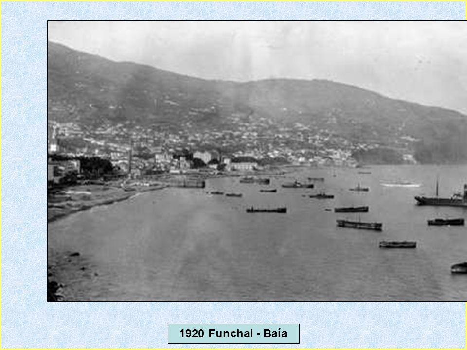 1920 Funchal- Vista do Forte sobre a baía