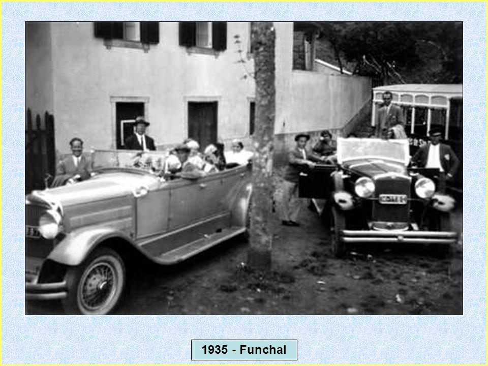 1931 - Funchal - Táxi da época