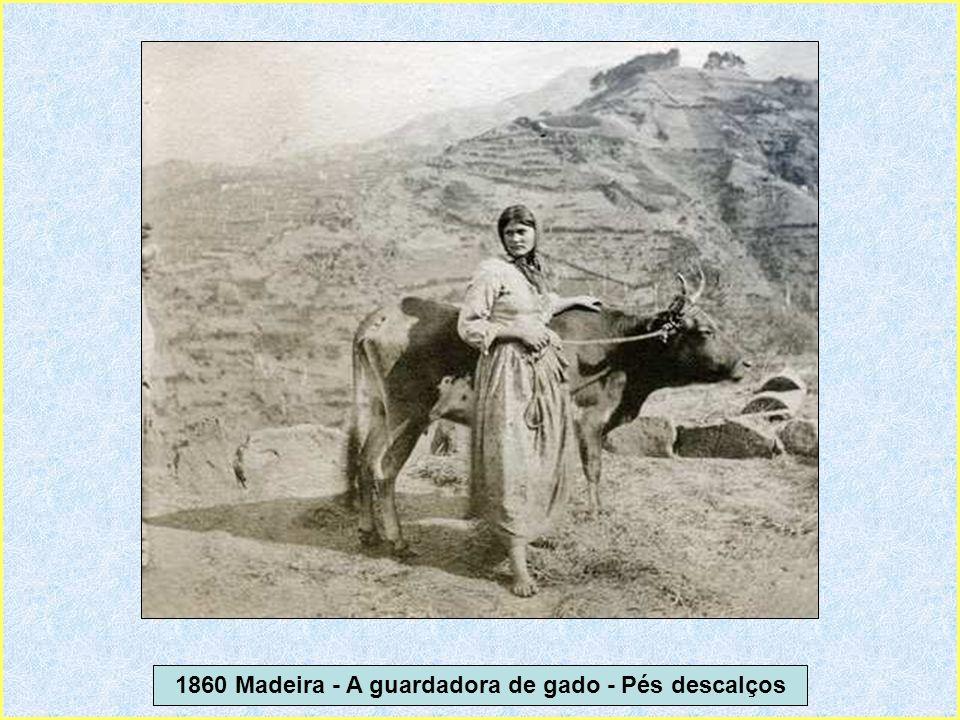 1860 Madeira - A guardadora de gado - Pés descalços