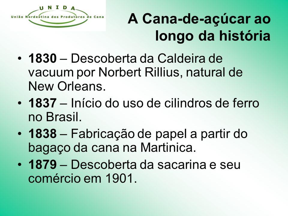 A Cana-de-açúcar ao longo da história 1830 – Descoberta da Caldeira de vacuum por Norbert Rillius, natural de New Orleans.