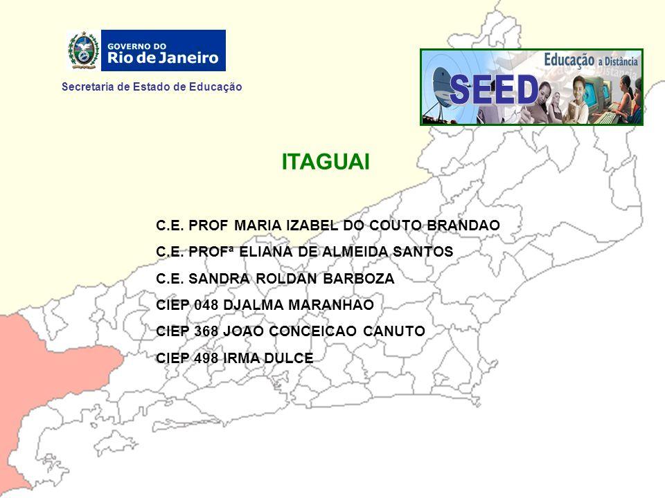 Secretaria de Estado de Educação ITAGUAI C.E. PROF MARIA IZABEL DO COUTO BRANDAO C.E. PROFª ELIANA DE ALMEIDA SANTOS C.E. SANDRA ROLDAN BARBOZA CIEP 0