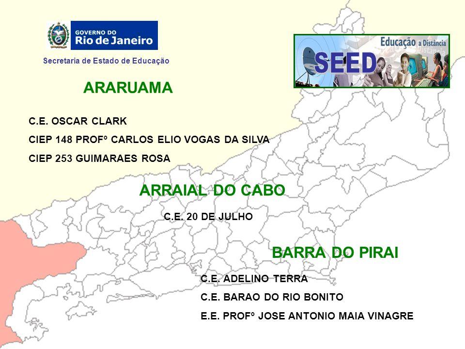 Secretaria de Estado de Educação MANGARATIBA C.E.MONTEBELLO BONDIM MARICÁ C.E.