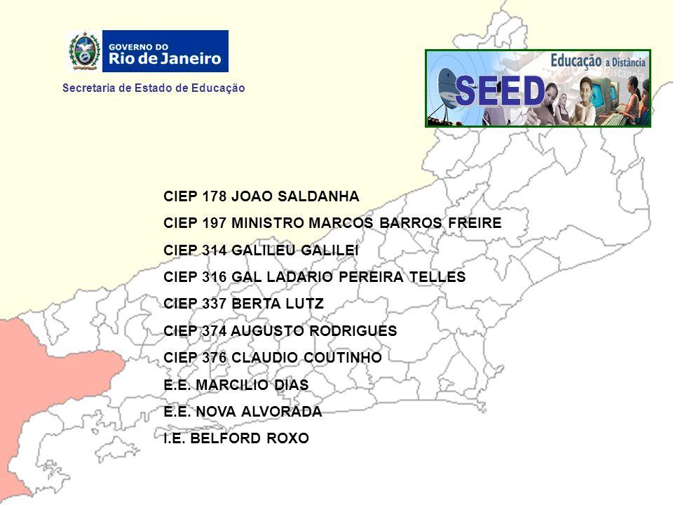 Secretaria de Estado de Educação CTED - Coordenação de Tecnologia Educacional Rua da Ajuda, 5 – Centro Rio de Janeiro – CEP: 20.040.000 Tel.