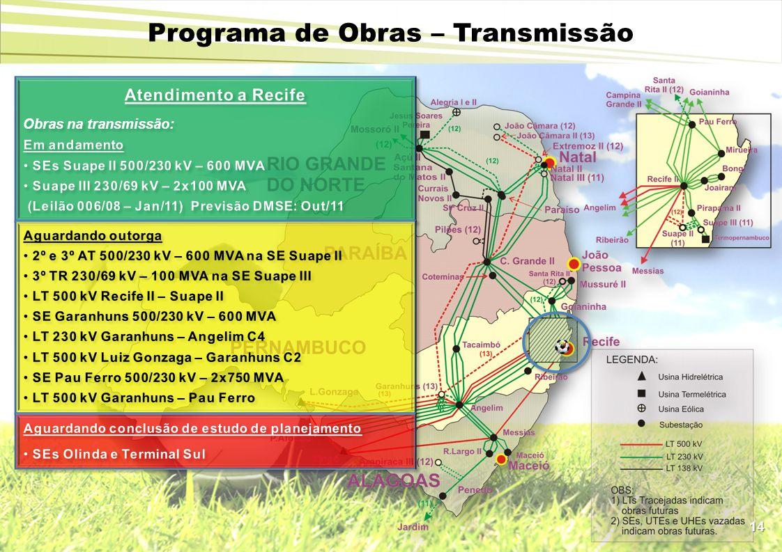 14 Programa de Obras – Transmissão
