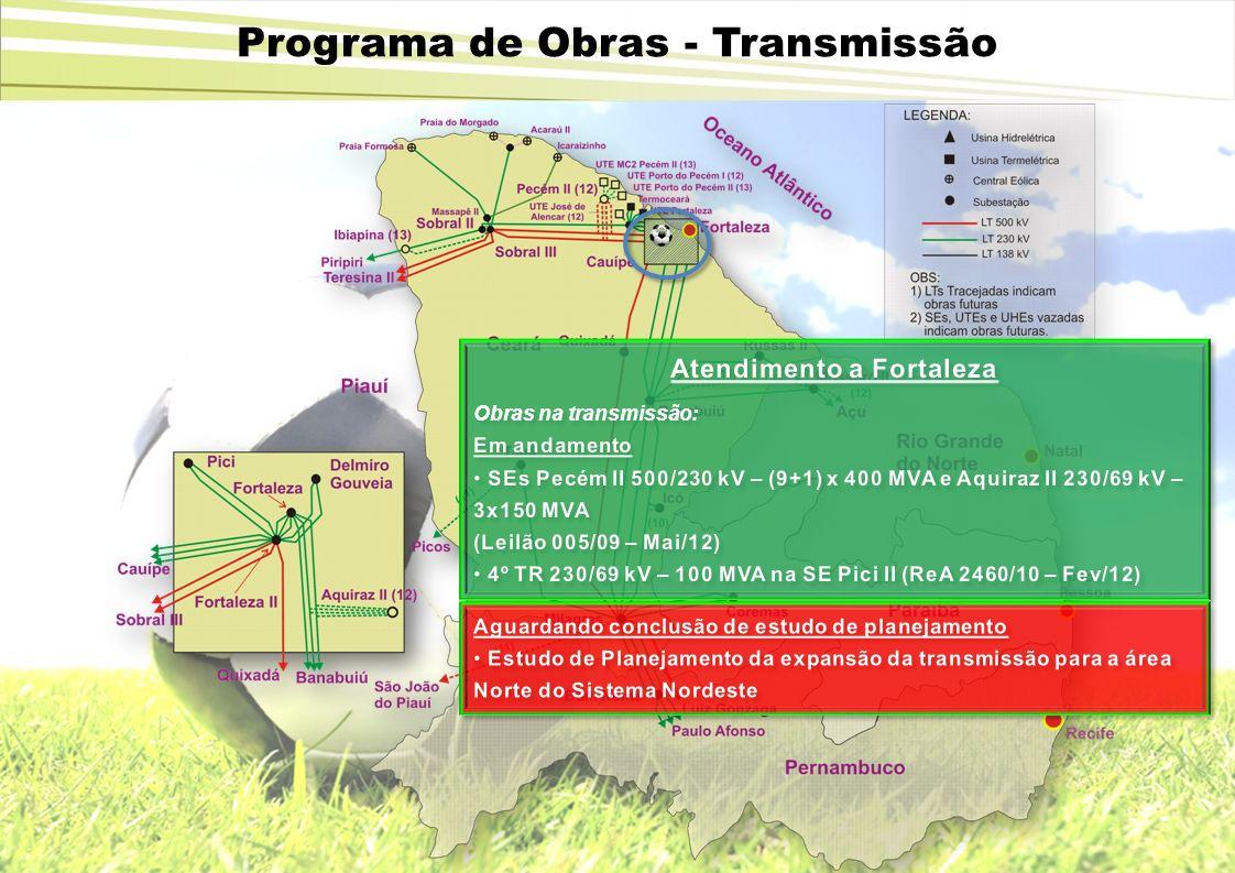 Programa de Obras - Transmissão